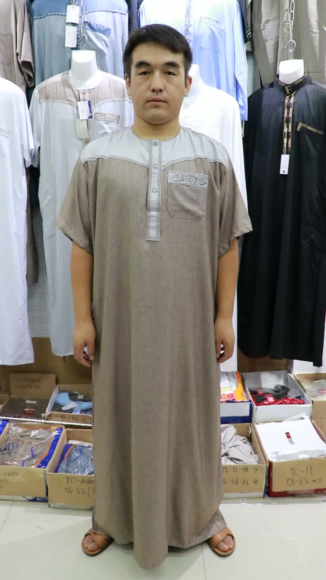Nieuwe collectie Afrikaanse Saudi Arabische Islamitische midden-oosten kleding moslim Maleisië thobe mannen kaftan