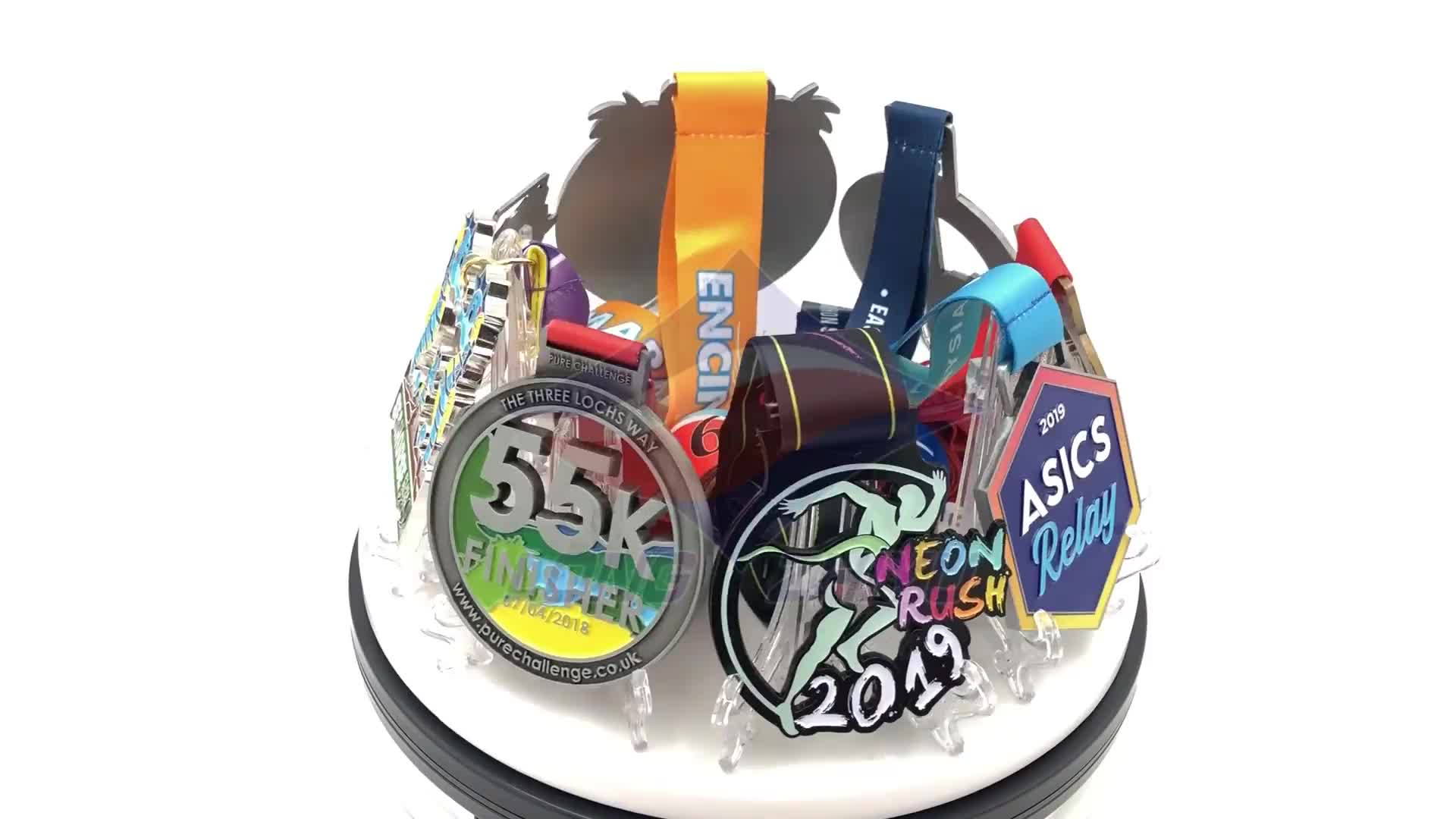 Longzhiyu 13 Years China Professional Manufacturer Customised Marathon Medals Custom Sport Running Metal Medal Zinc Alloy Medals