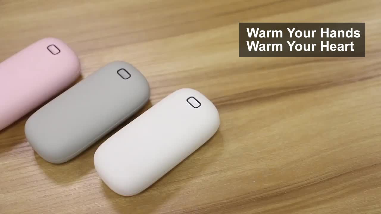 4000mAh Rechargeable Hand Warmer Portable Hand Warmer Power Bank With KC Battery