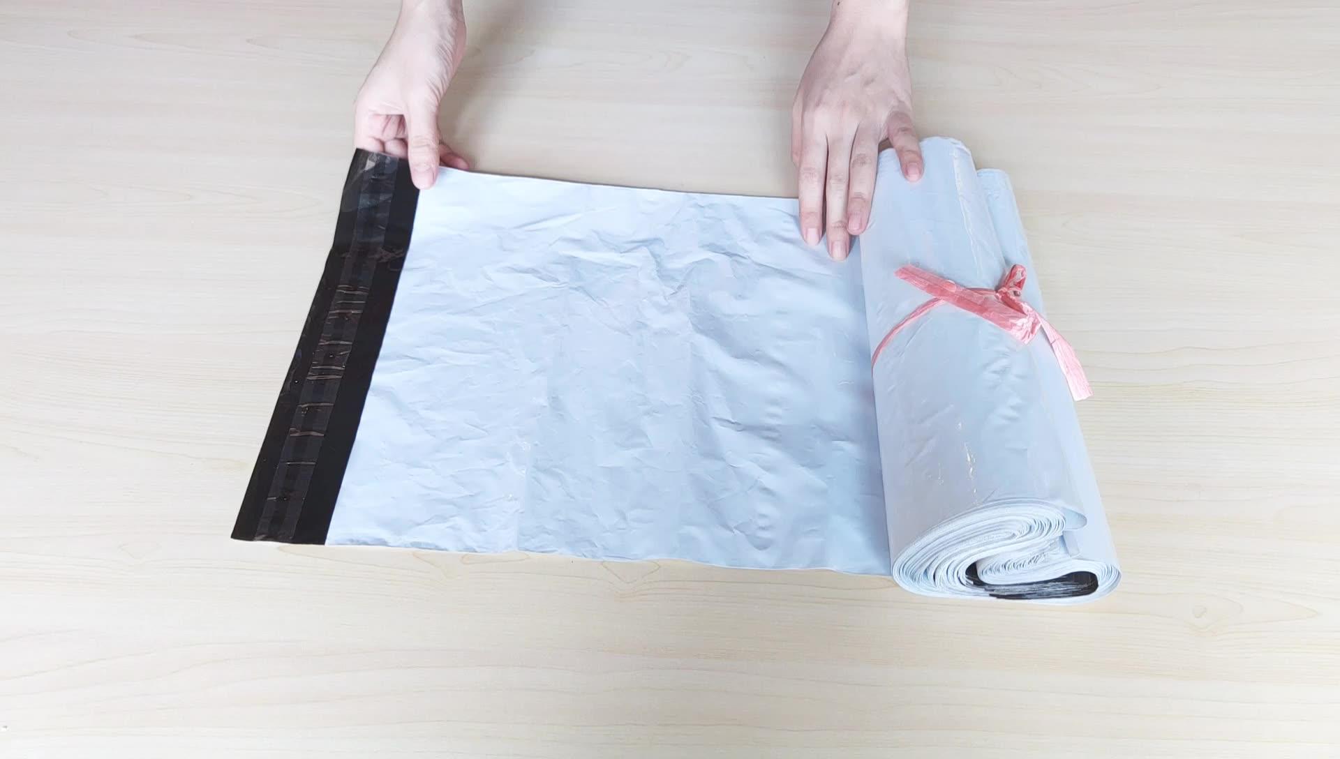 Ambiental reciclável personalizado impresso poli sacos de discussão cinza