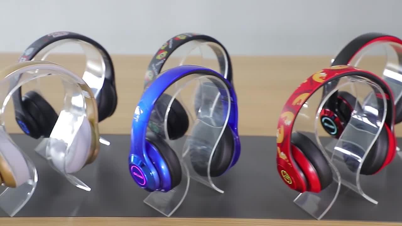 블루투스 led rgb 빛 오디오 mp3 스피커 머리띠 무선 이어폰/헤드폰/이어폰/헤드셋 안드로이드 IOS