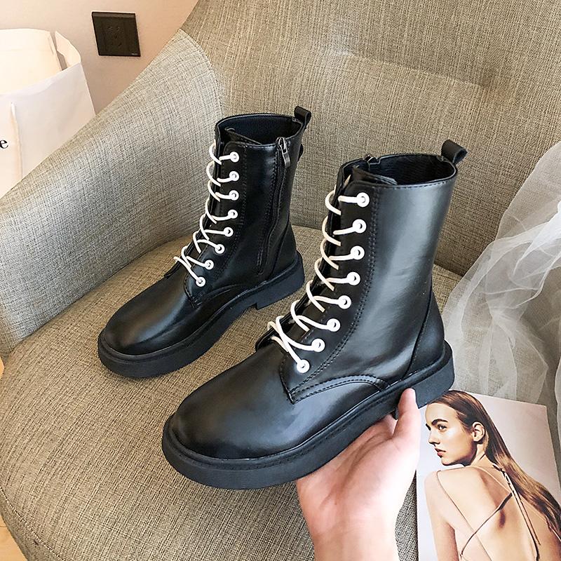 Чистый красный chic мартин сапоги женщина волна ins британская мода 2019 новый зимний осенний корейский дикий квартира ботинки ботинки 607052537385