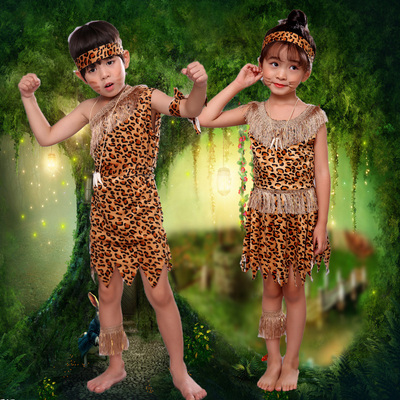 African drum costumes for children Indian Aboriginal costumes for children, primitive hunters for costumes for savages