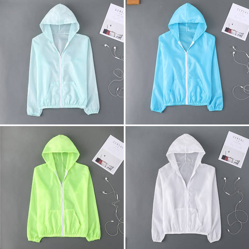 Sunscreen women's short summer thin Korean version of uv protection short coat ultra-thin breathable quick dry sunscreen clothing