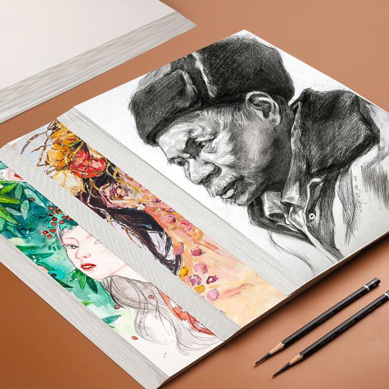 4开素描纸8k水彩纸丙烯画画纸8开水粉纸4k美术纸a4纸绘画纸速写31
