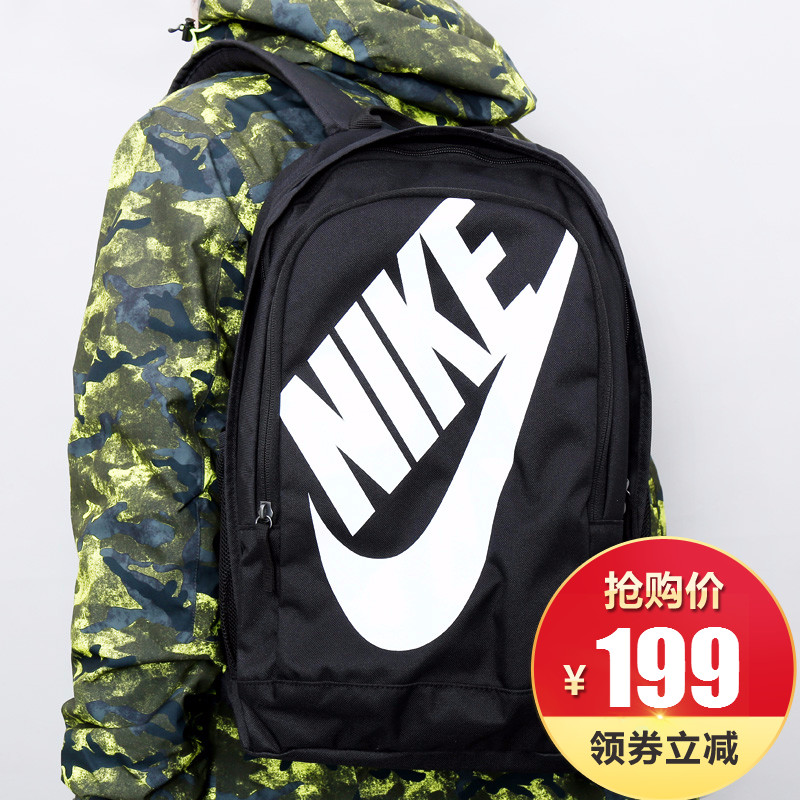 76dfaff855 Nike Nike Men s Bag Women s Bag Backpack 2018 Summer New Sports and Leisure Student  Bag BA5217