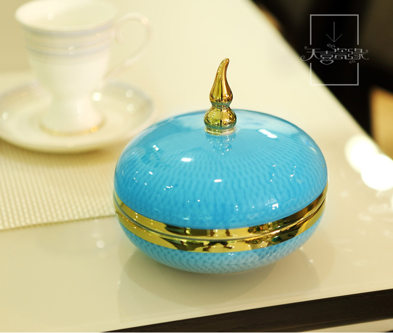 Modern light key-2 luxury decorative ceramic Mediterranean furnishing articles creative new Chinese style sitting room between example caddy fixings household decoration