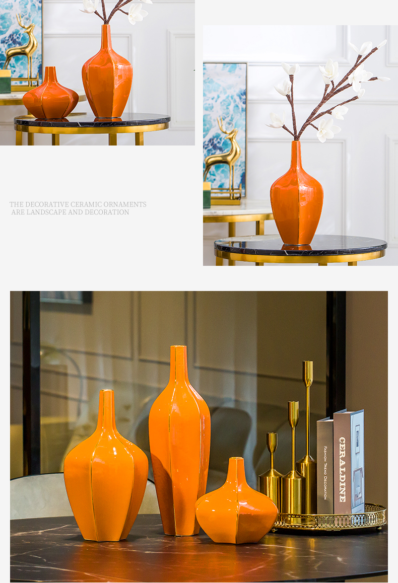 I and contracted vase furnishing articles flower arranging Nordic creative ceramic light sitting room key-2 luxury home TV ark adornment ornament