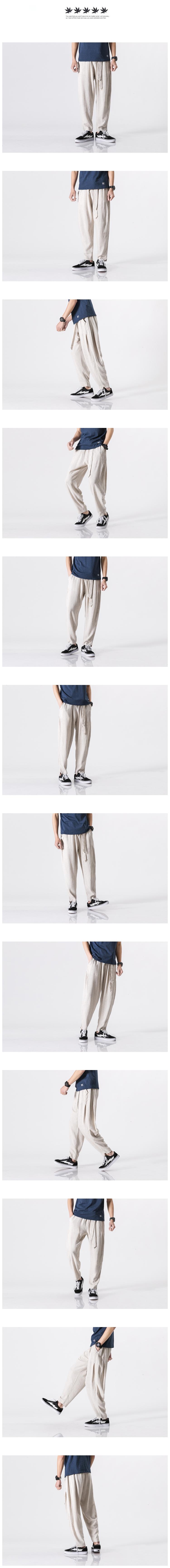 大码中国风亚麻灯笼裤 棉麻裤哈伦萝卜裤 K25 P55 已质检常年有货