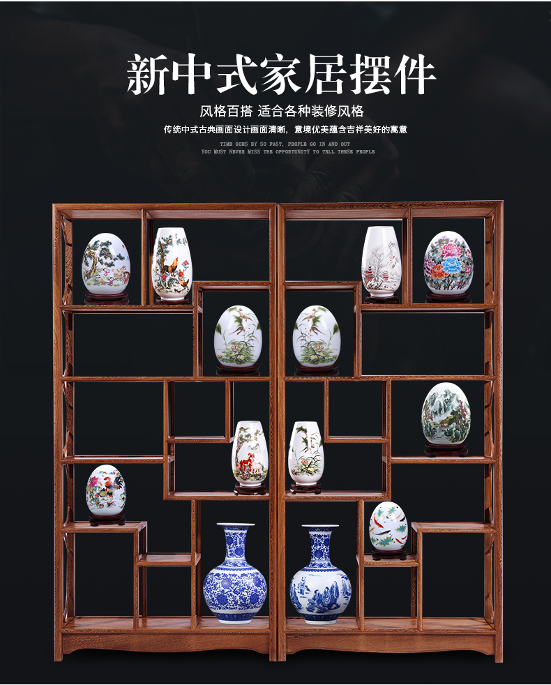 Jingdezhen ceramic modern furnishing articles of the new Chinese style household act the role ofing is tasted creative indoor sitting room of rich ancient frame wine accessories