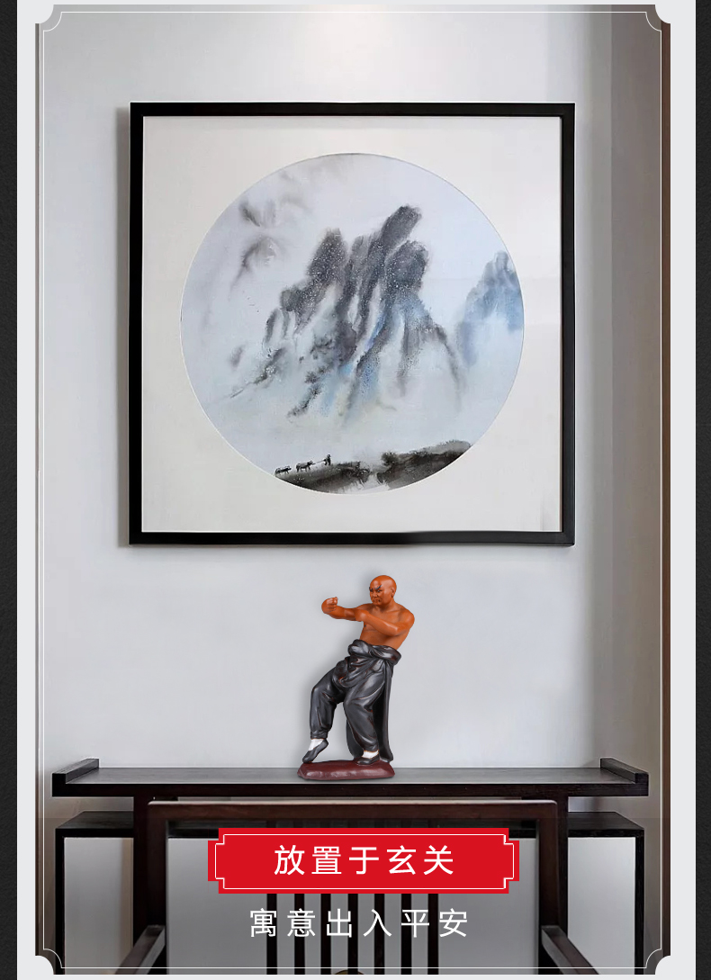 Jingdezhen ceramics sitting room porch creative household furnishing articles Chinese wind study of new Chinese style office decoration