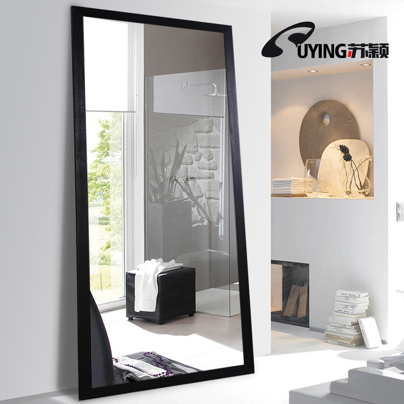 Mirror full-length mirror female bedroom floor mirror living room ...
