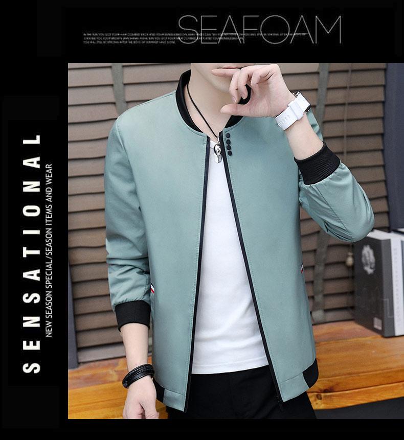 冬新款加绒加厚男士夹克外套青少年韩版修身保暖休闲上衣J30-P45