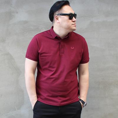 Big lo lắng-miễn phí phần mùa hè thêm kích thước lớn của nam giới Hàn Quốc phiên bản của cộng với phân bón để tăng nam ngắn tay áo POLO ve áo T-Shirt áo phông có cổ Polo
