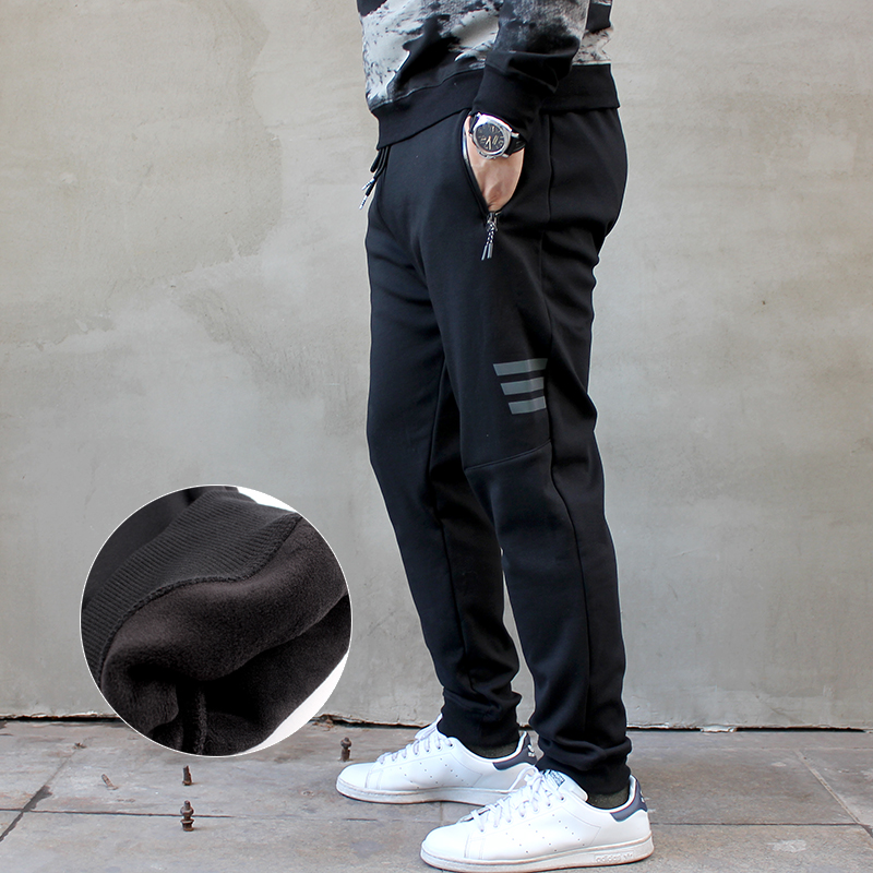 a0e2ab451881c ... trousers  Share. New plus velvet large elastic tightening feet plus  fertilizer to increase the size of men s knit