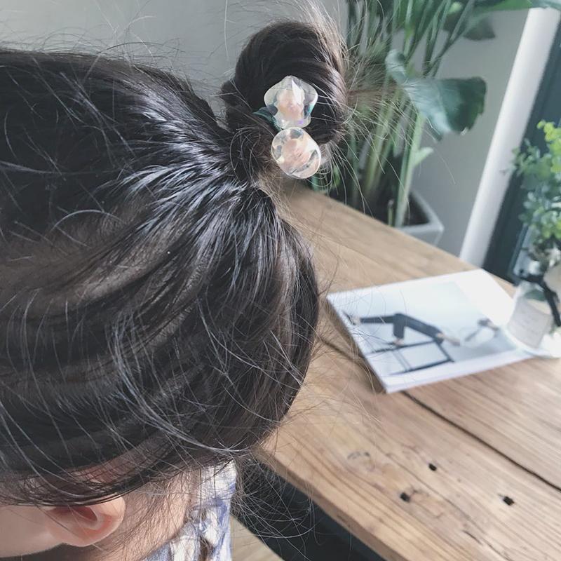 韩国头饰儿童髮圈公主小女孩扎头髮的橡皮筋髮圈可爱髮饰女童髮圈详细照片