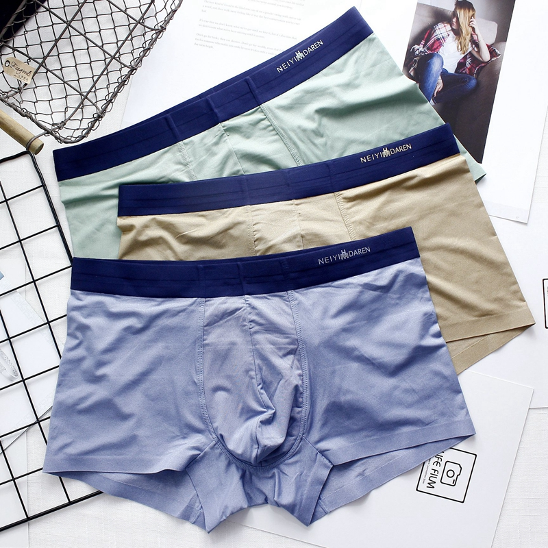 Thin and seamless comfort young men s boxer briefs spring and summer trend  breathable Ice Silk one 2fed980e0