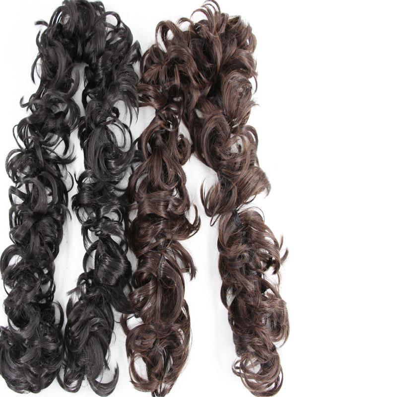 Hair stick curl caterpillar long wig bride portrait curl random photos