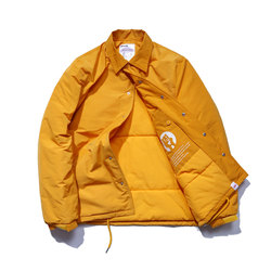 Dmnumb tide brand yellow cotton coat male cotton clothing lovers loose jacket coach jacket