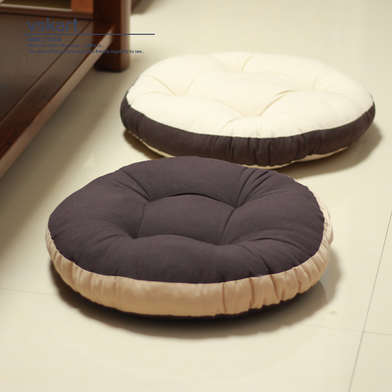 Futon Cushion Fabric Thickened Floor Tatami Meditation Mat Pad Round Worship Bay Window Balcony