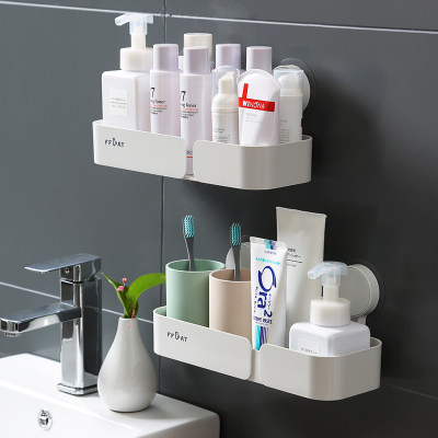 Wall-mounted toilet rack free punching household vanity storage and finishing artifact bathroom corner tripod