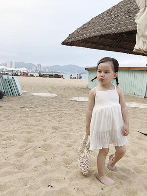 女童连衣裙纱裙公主裙夏款童装儿童吊带裙夏时尚蓬蓬裙潮
