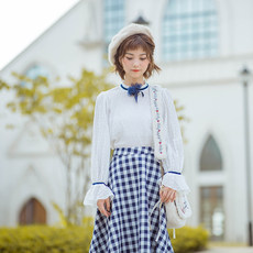 Flowers skirts / by sea chase song / youth literary England plaid skirts and long skirt a new autumn dress