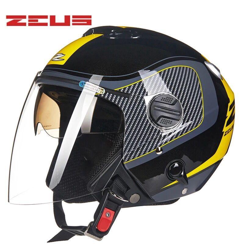 瑞獅ZEUS頭盔摩托車頭盔 雙鏡片頭盔半盔 ZS-202FB 內墨鏡 3/4盔