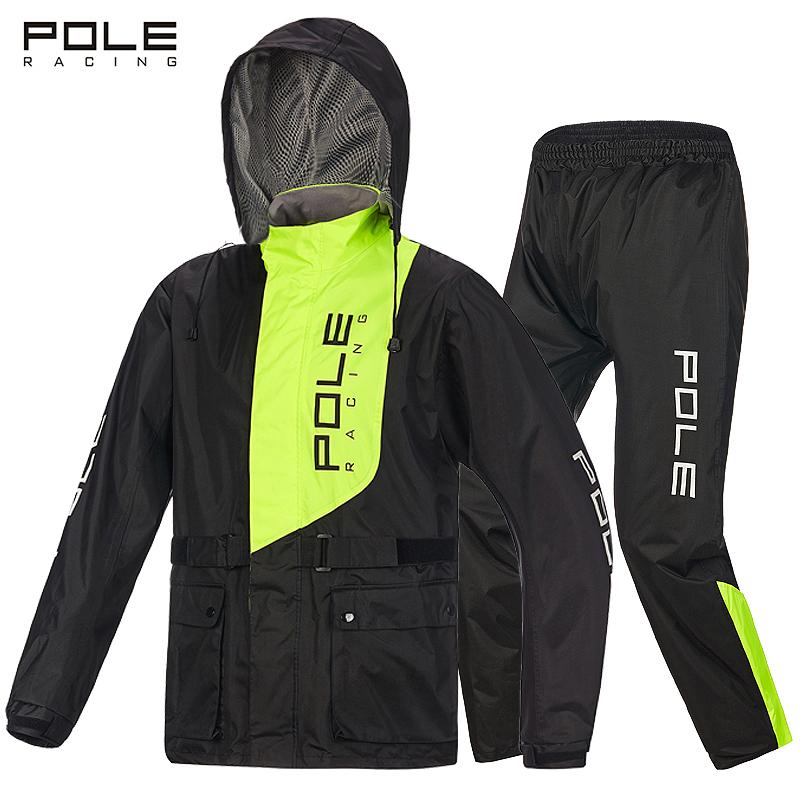 Бесплатная доставка POLE трещина плащ мотоцикл плащ пончо рыбалка дождь брюки поляроид верховая езда плащ корейский установите