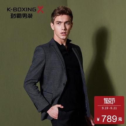 劲霸男装西服秋季新款休闲时尚商务单西服上衣外套男|BXFL3517