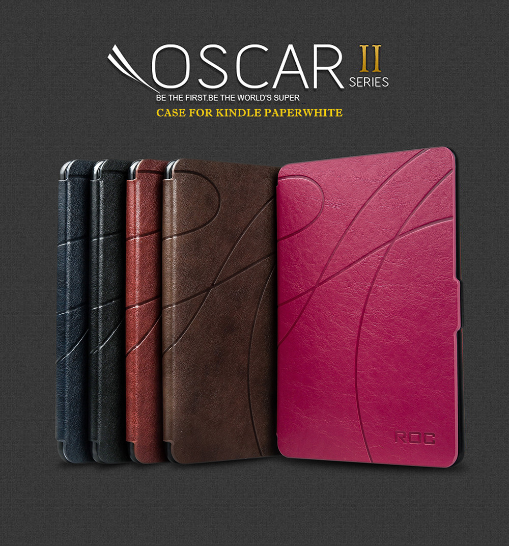 online store 5cb08 a63ae Details about ROC® Smart Flip Magnetic Slim Leather Case Cover for New  Kindle Paperwhite 2018