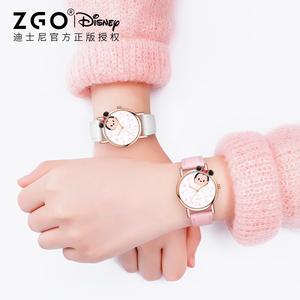 迪士尼松松手表女童儿童zgo正港联名女孩子防水官方旗舰店指针式