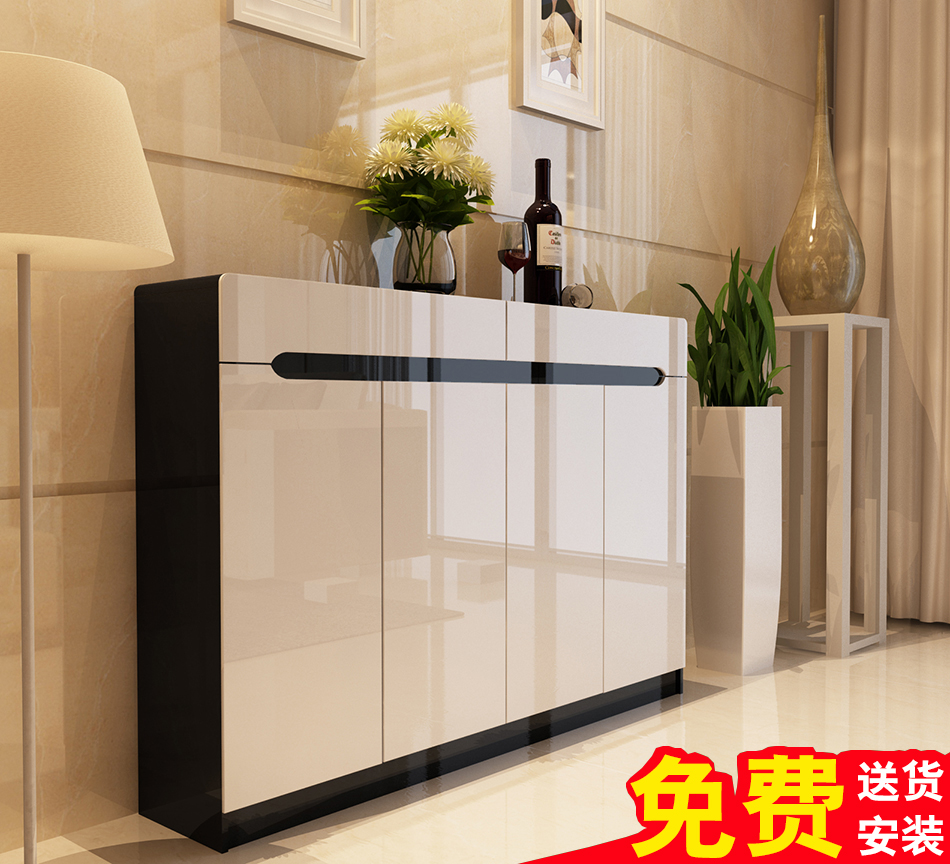 Shoes Cabinet Paint Large Capacity European Style Solid Wood Custom Foyer  Entrance Cabinet Minimalist