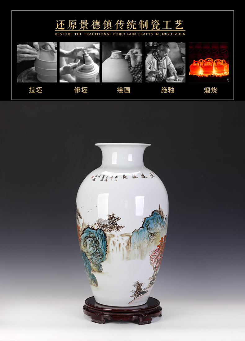 Hand - made 50 cm jingdezhen vase sitting room adornment furnishing articles on both sides of the classical Chinese television large Chinese ceramics