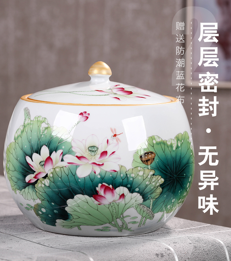 Chinese kitchen receive tank grain storage tank large seal pot 's second - biggest beans kimchi ceramic POTS of household