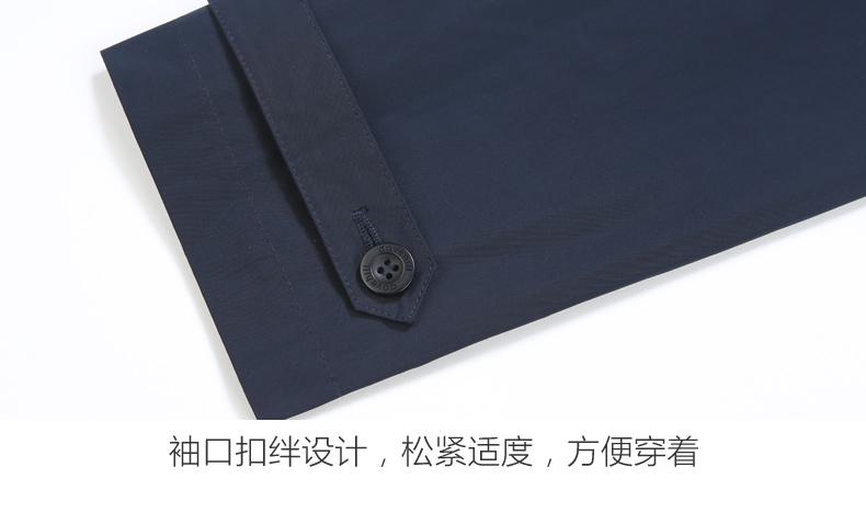 David Leo Núi áo gió áo khoác dài trên đầu gối ve áo kinh doanh bình thường England rắn màu lỏng trung niên áo khoác nam