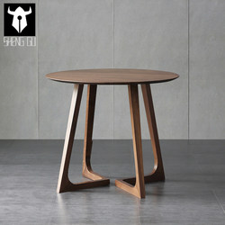 Nordic small round table coffee table modern minimalist small round table balcony coffee table creative leisure negotiation reception side table