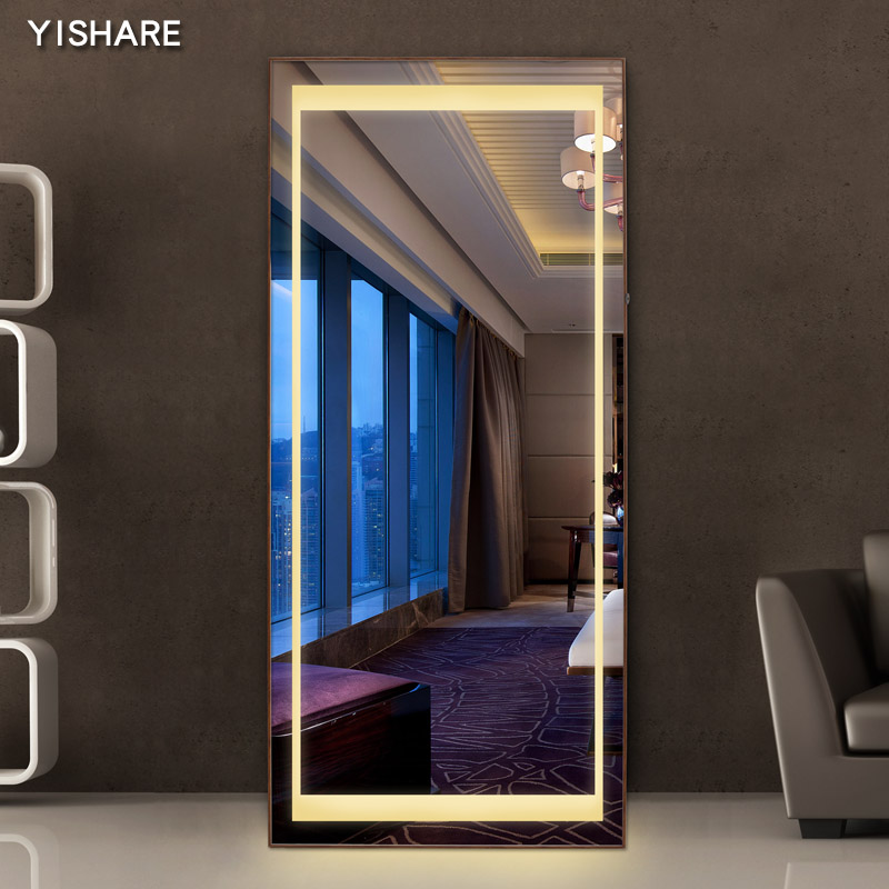 Yishare Full Body Mirror Wall Led Dressing With Lamp Bedroom Home