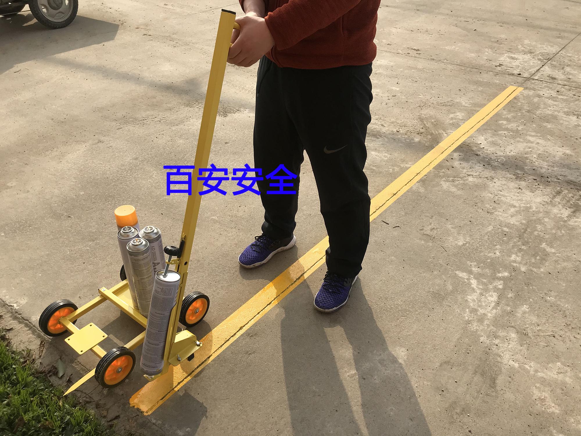 油漆划线车油漆画线车仓库车位划线器道路划线漆工厂区车间划线机详细照片