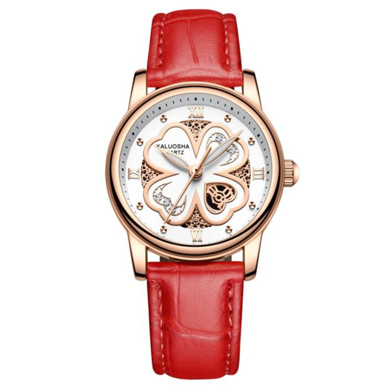 新品别样款皮带手表女士手表学生夜光防水时尚潮流非机械石英女表