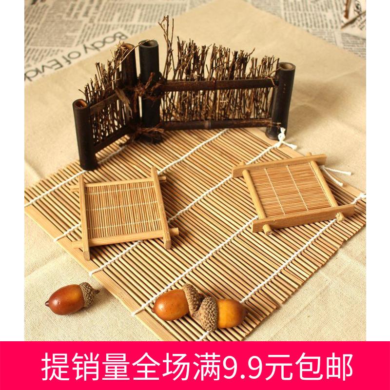 [拍摄食品茶叶] винтаж комплект [摄影道具影棚拍照背景布套餐篱笆茶垫小帘子]
