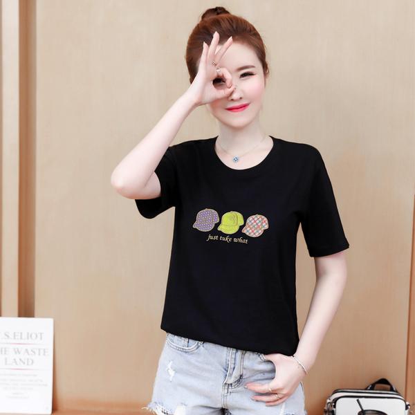 TS-83#T恤女短袖纯棉2020新款夏季网红大码女装