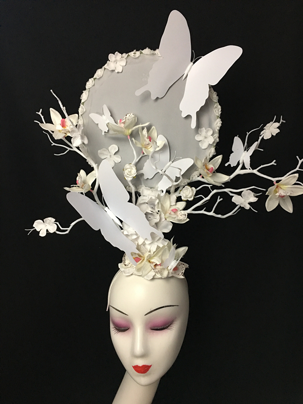 New products exaggerate withered butterfly headdress stage performance T stage show fashion creative makeup modelling eye-catching hairdressing