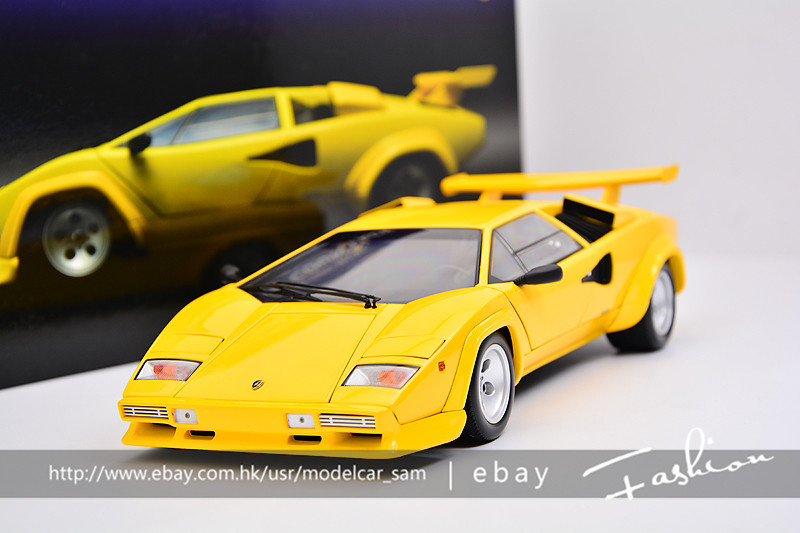 kyosho 1 18 lamborghini countach lp5000s yellow. Black Bedroom Furniture Sets. Home Design Ideas