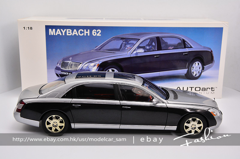autoart 1:18 maybach 62 silver grey | ebay
