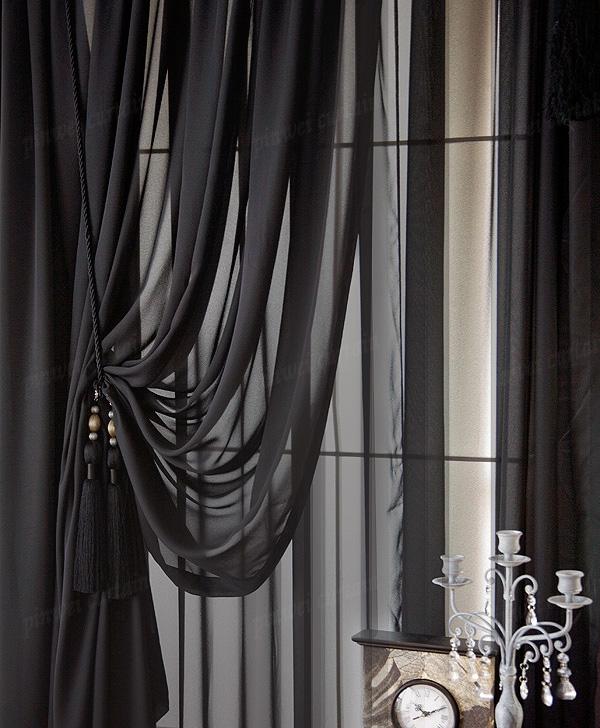 Черные ночные шторы