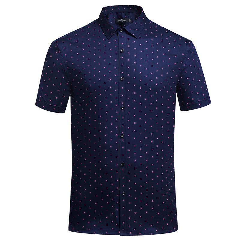 七匹狼衬衫正品短袖男装夏季新款中年专卖店帅气寸衫男士品牌衬衣