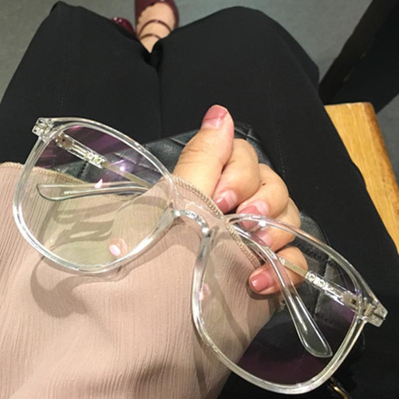 透明眼镜女韩版潮近视网红款学生无度数大圆脸素颜神器复古个性男