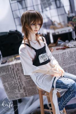 taobao agent 【endless】-Fabulous-T-shirt and detachable vest Uncle 13 male bjd/sd doll top