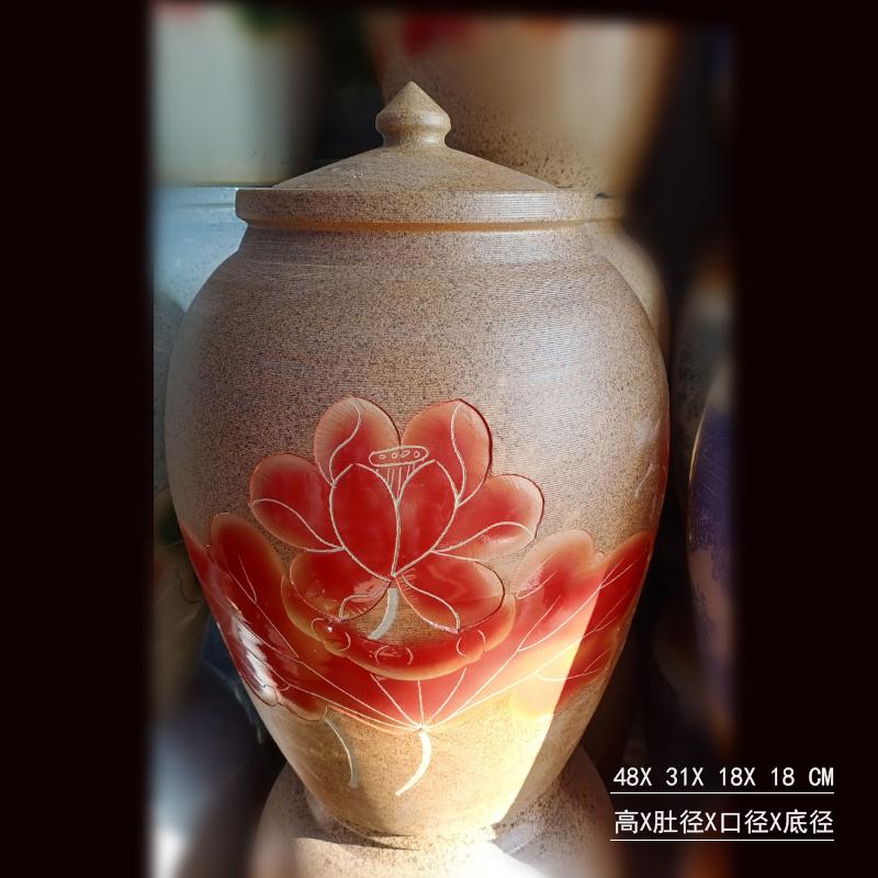 景德镇高雅手绘瓷器米罐 米缸 陶瓷瓷器储藏罐 时尚漂亮盖罐